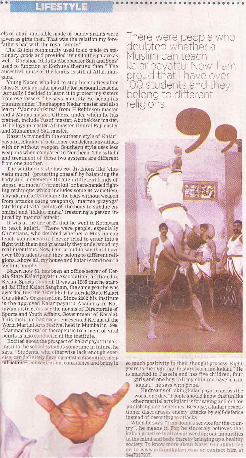 The New Indian Express, Thiruvananthapuram, Wednesday,10 November,2010